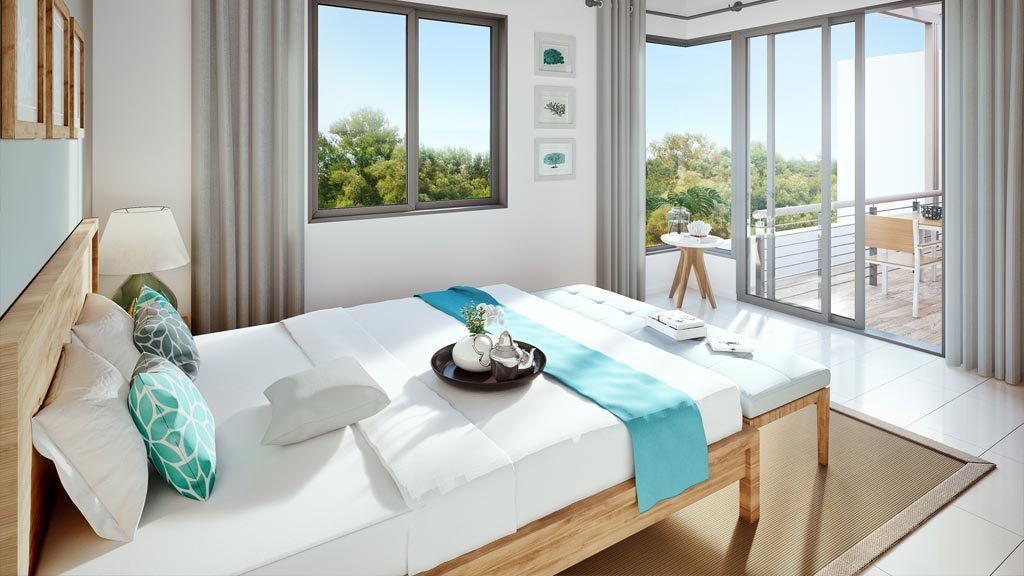 Appartement PDS Pereybere Cove : Vue Chambre
